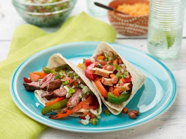Get Ree Drummond's Chicken and Beef Fajitas Recipe from Food Network