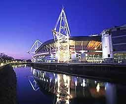 Millenium Stadium, Cardiff. Location for Football.