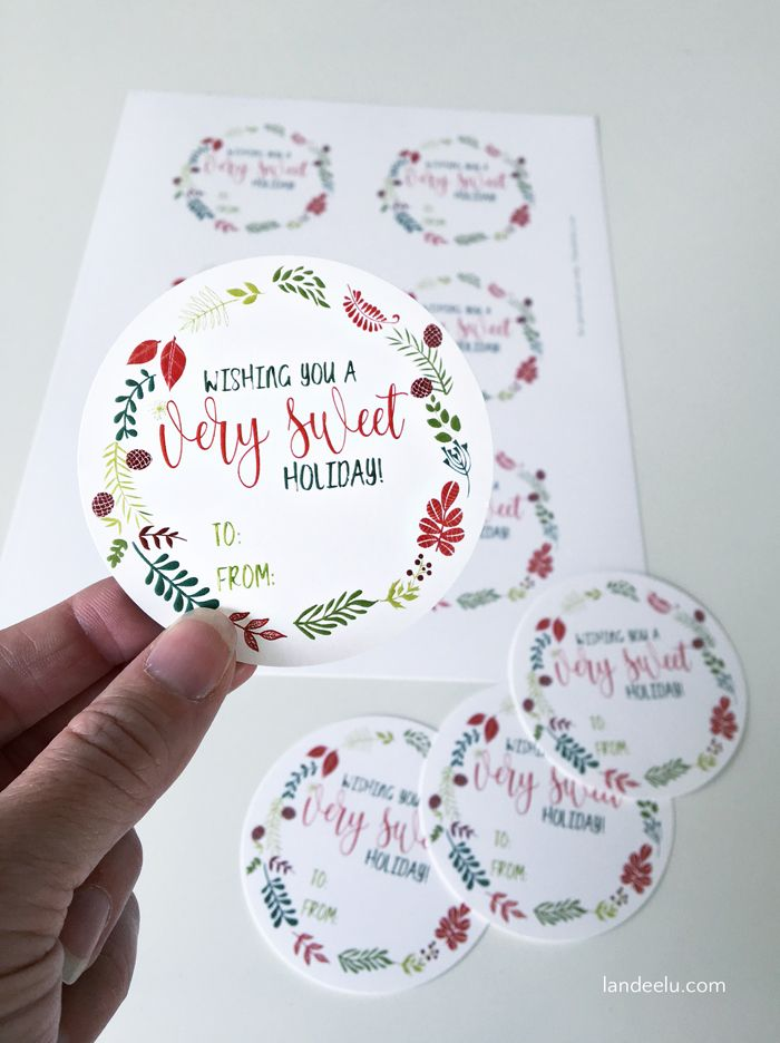 25 unique christmas gift labels printable ideas on pinterest sweet holiday printable christmas gift tags negle Choice Image