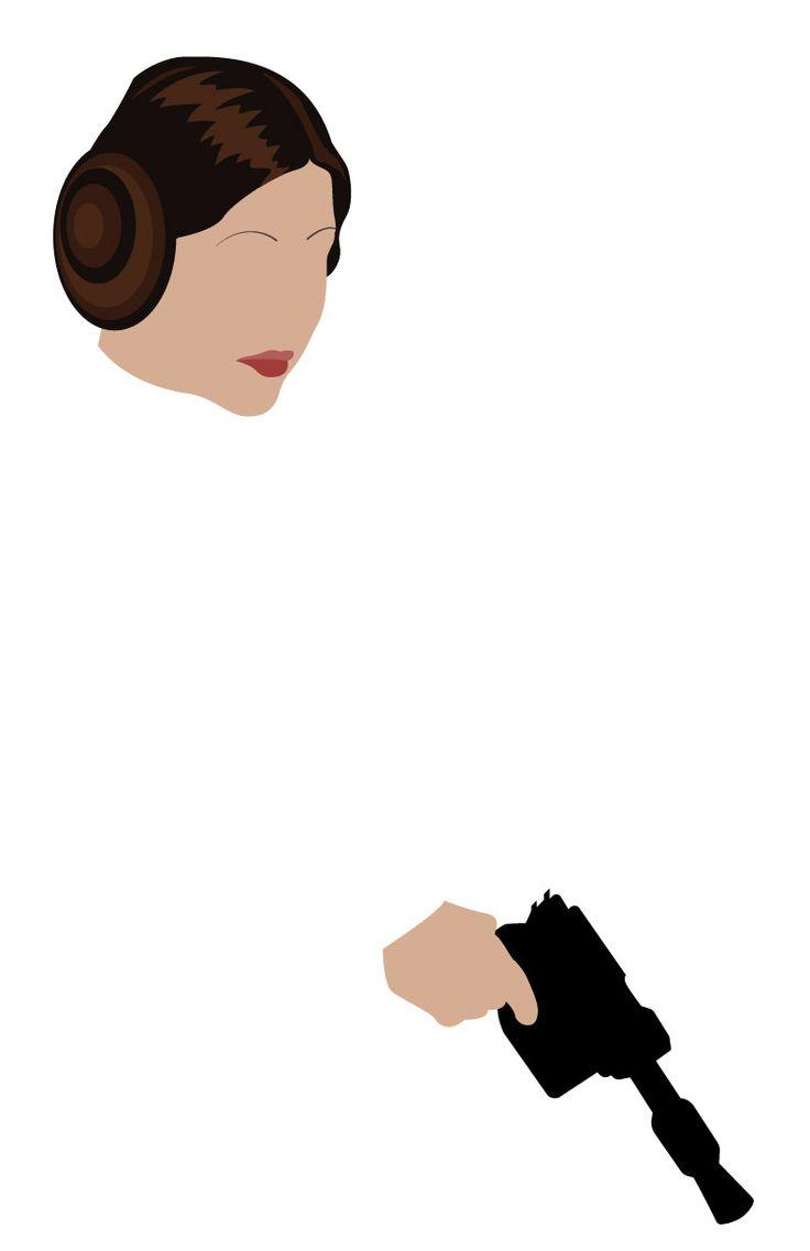 Leia minimalist illustration starwars illustration for Minimal art vector