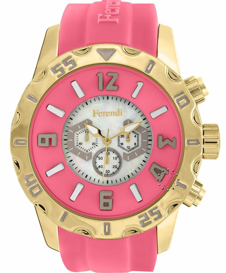 FERENDI Zeal Coral Rubber Strap Μοντέλο: 1309-20 Τιμή: 59€ http://www.oroloi.gr/product_info.php?products_id=41295