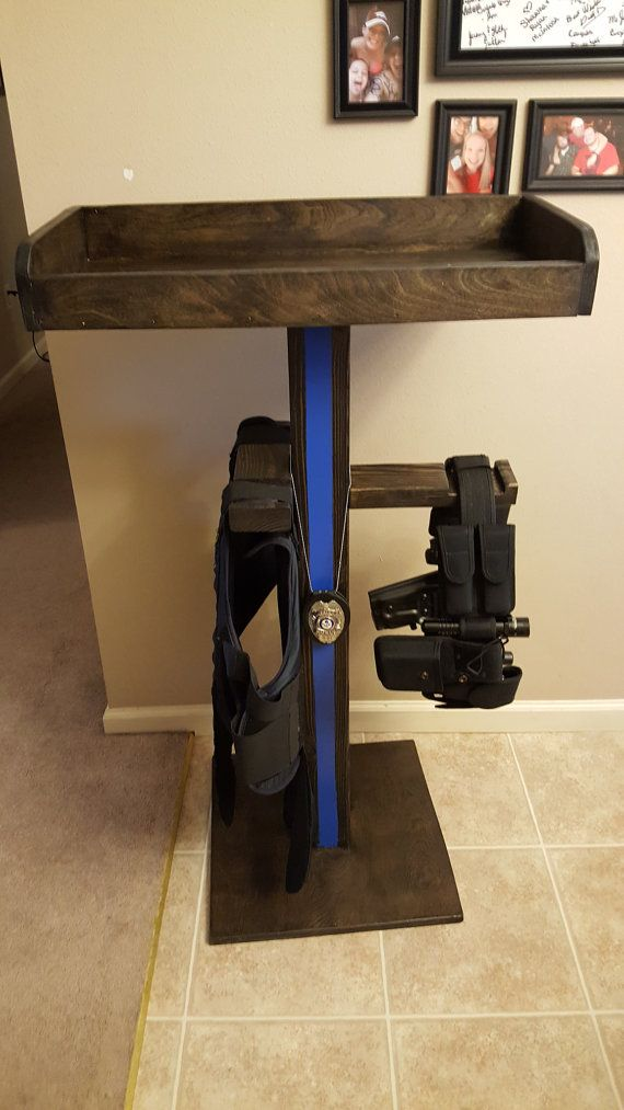 Cop caddy tactical stand by Upcycleofconway on Etsy
