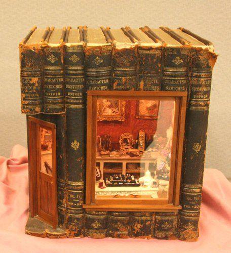 Dollhouse Miniature Book House