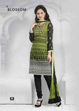 Green Cotton Churidar Suit