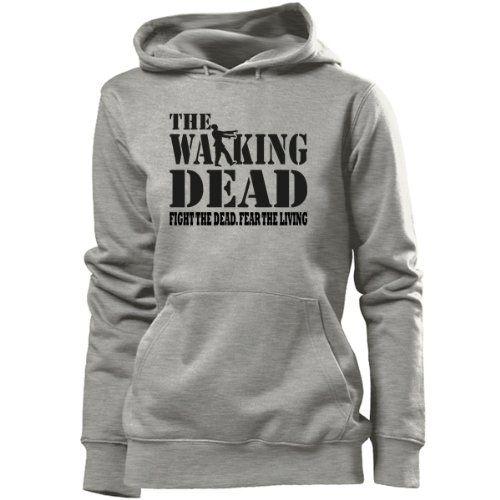 THE WALKING DEAD - FIGHT THE DEAD - women Hoodie grey