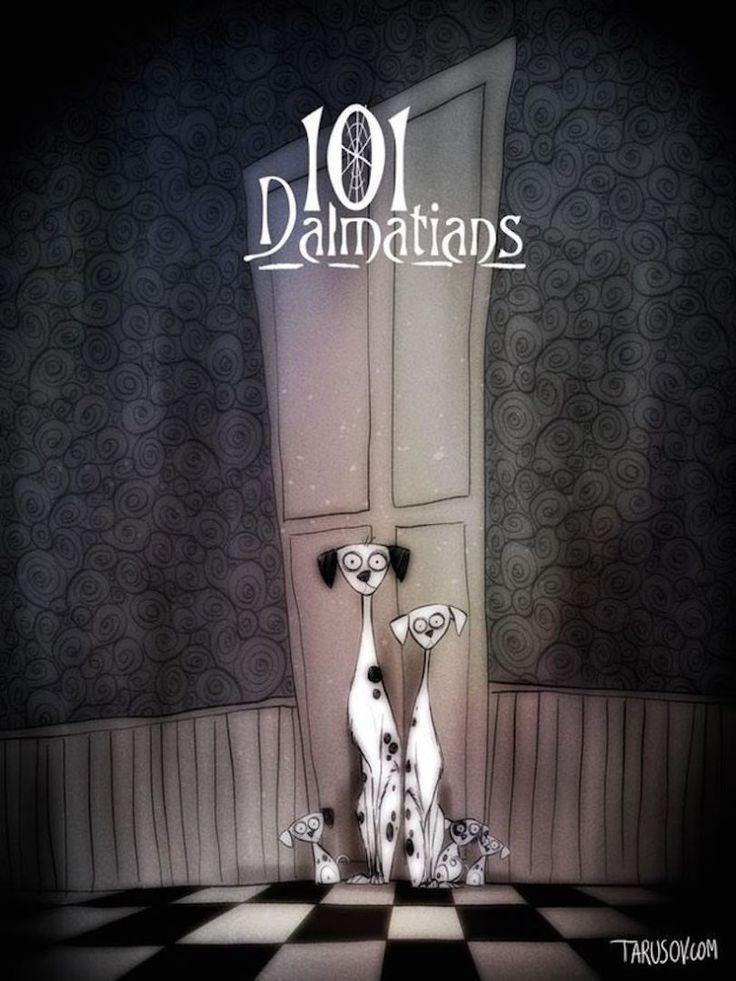 Les classiques Disney façon Tim Burton : les 101 dalmatiens