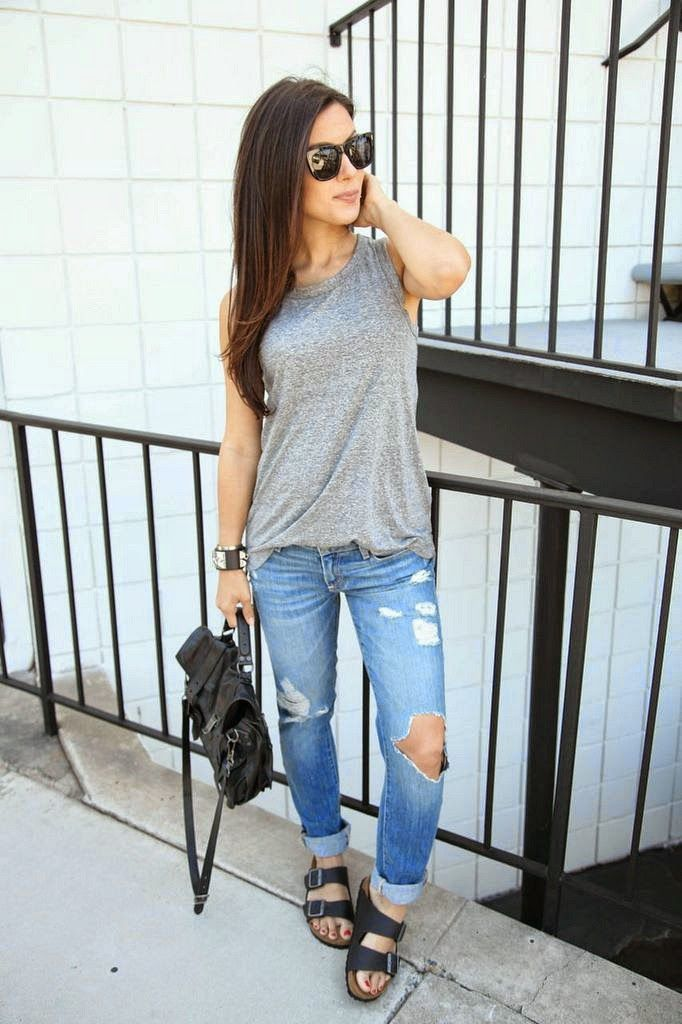 outfits with birkenstocks