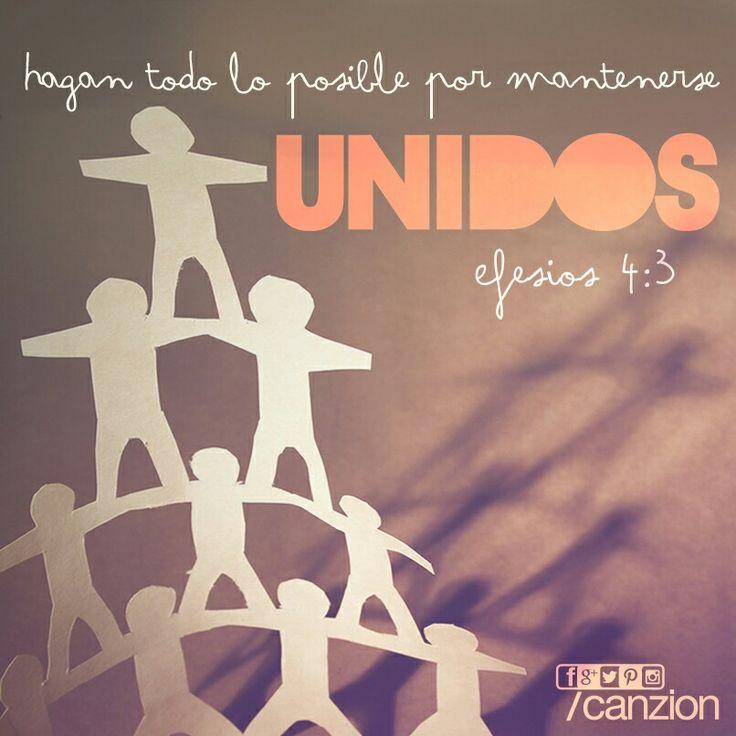«Hagan todo lo posible por mantenerse unidos en el Espíritu y enlazados mediante la paz». —Efesios 4:3