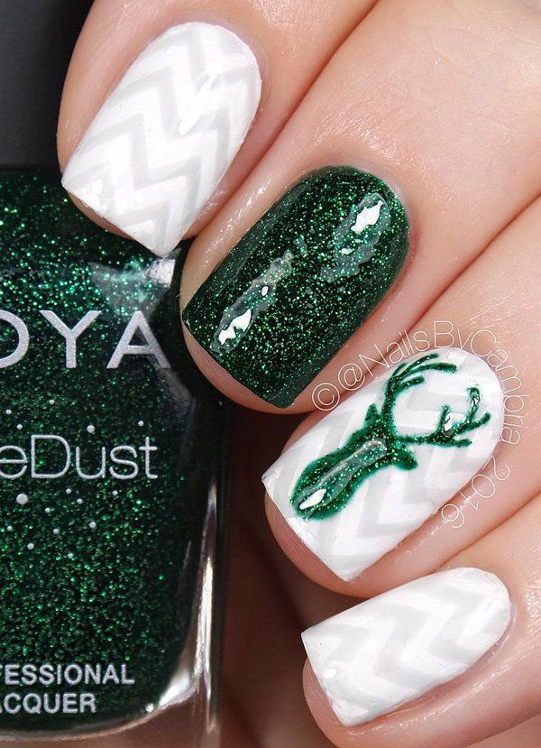 christmas-nail - 55 Joyful Christmas Nails Ideas  <3 <3
