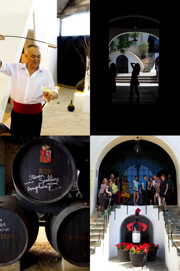 Bodega Tio Pepe in Jerez, a vineyard renowned worldwide for their production of sherry wine.