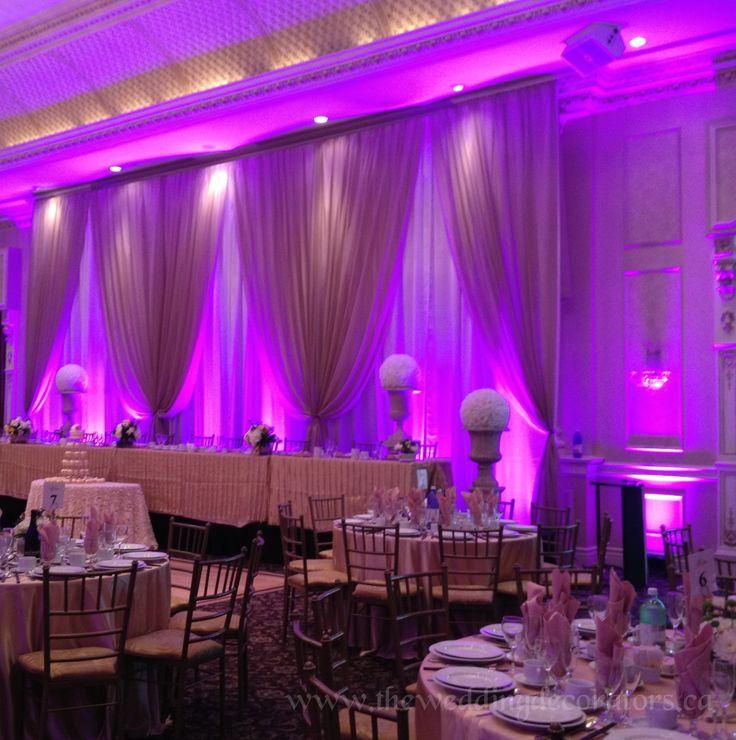 Diy Led Uplighting Rental Atlanta: Wedding Backdrop With Elegant LED Lighting.