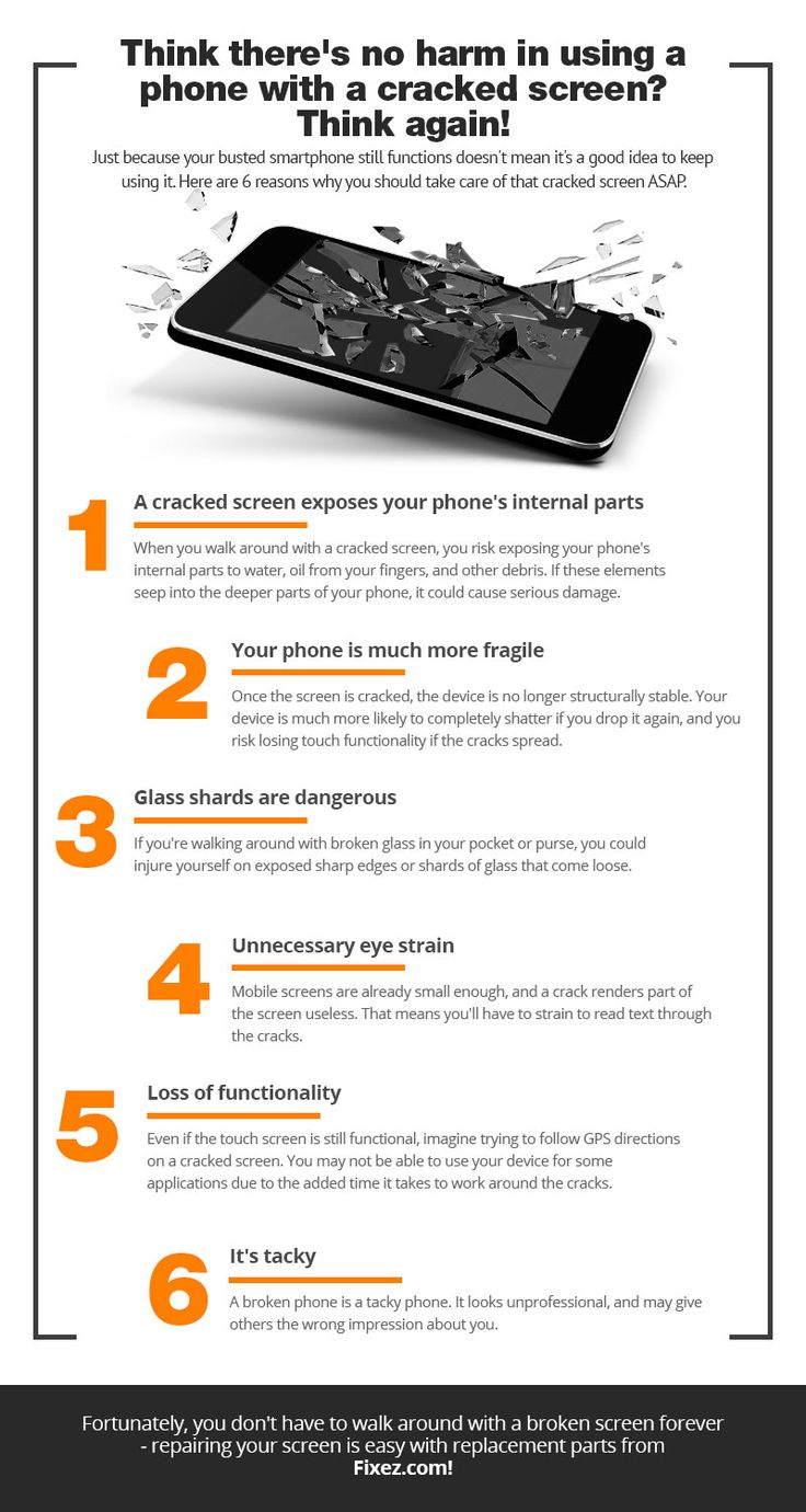 Blog why you should repair that cracked screen asap