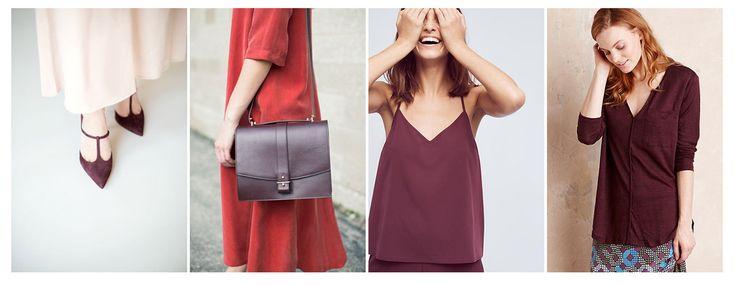 Базовая одежда бордового цвета