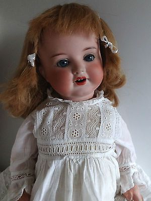 Antique vintage Armand Marseille 996 bisque head toddler doll, 1900-1920, 20""