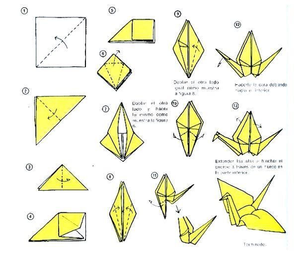 """Decoraciones DIY: Técnica del origami: """"Mil Grullas"""" . Te contamos como hacerlas."""