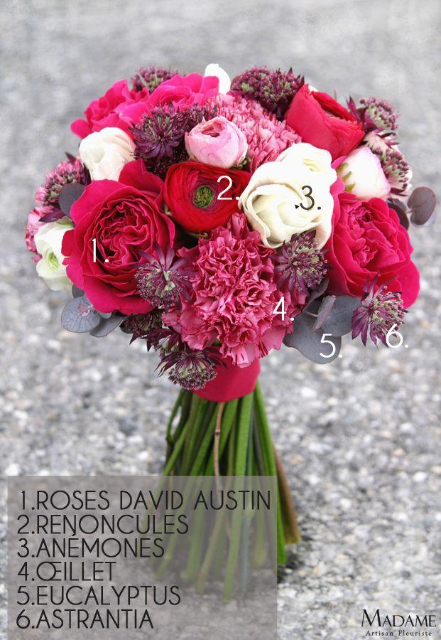Bouquet de mariée {renoncules, roses et anémones}