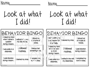FREE for ONE HOUR!  Editable Behavior Bingo