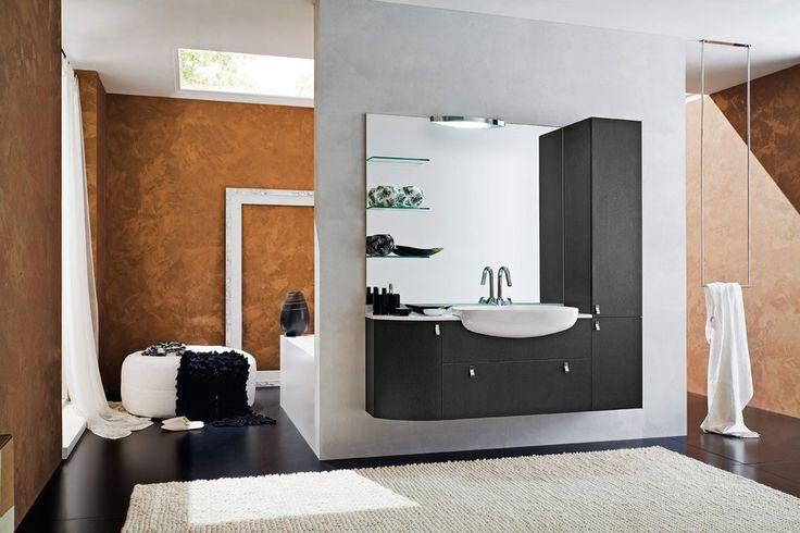 Решение для большой ванной комнаты. #дизайн_ванной_комнаты #дизайн_ванной #мебель_для_ванной #подвесная_мебель_для_ванной #современная_ванная_комната #аксессуары_для_ванной