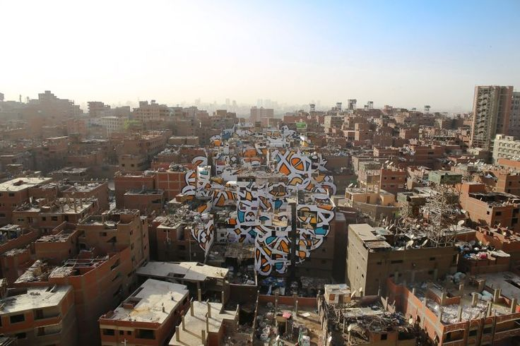How a Street Artist Secretly Painted an Urban-Scale Mural in Cairo