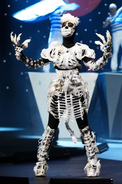 'Patient A - Mutter's Legacy' by Rodney Leong of New Zealand is modelled in the Open Section during the World of WearableArt Opening Night 2017 at TSB Bank Arena on September 21, 2017 in Wellington, New Zealand. - 83 of 90