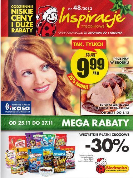 Biedronka nieustannie inspiruje. W środku gazetki przepis na przyrządzenie kurczaka. http://www.promocyjni.pl/gazetki/12197-inspiracje-tygodniowe-gazetka-promocyjna