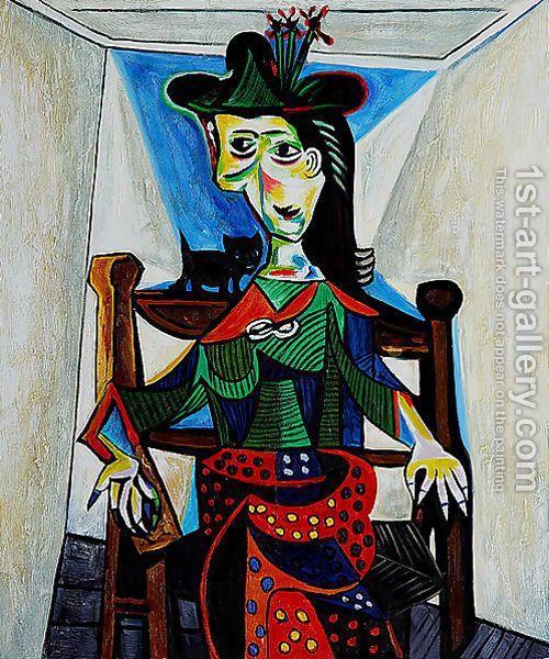 Пабло Пикассо. Дора Маар и кошка