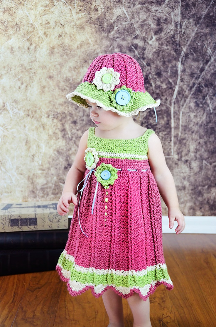 Crocheted Girls Spring/ Easter/ Church/ Flower Hat
