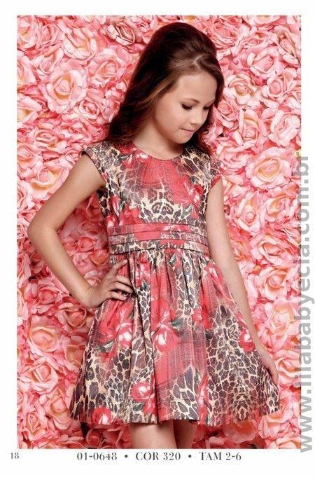 VESTIDO Infantil Diforini Moda Infanto Juvenil 010648