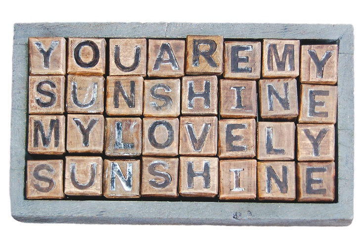 One Kings Lane - Sugarboo - You Are My Sunshine Blocks; Kind of obsessed...