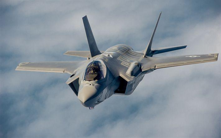 Descargar fondos de pantalla La empresa Lockheed Martin F-35 Lightning II, Caza-bombardero, la Fuerza Aérea de EEUU, Estados unidos, F-35, el avión militar