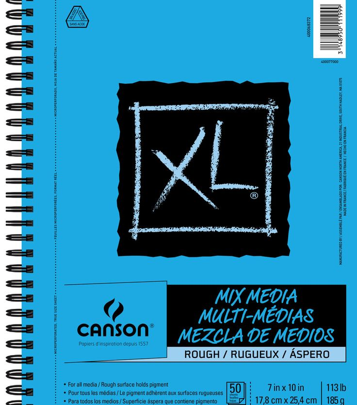 Canson Xl Series Mix Media Pad Canson Xl 7 X10 50 Sheets Spiral Mix Media Rough Pad Mixed