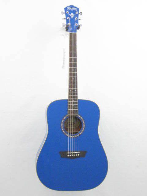 Washburn Apprentice Model WD10/BL Blue Dreadnought Size Acoustic Guitar - NEW #Washburn #ACOUSTIC