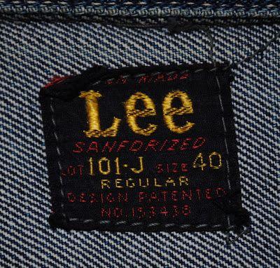 私のリーバイス: ヴィンテージ デニムジャケット Lee 101-J 赤タグ