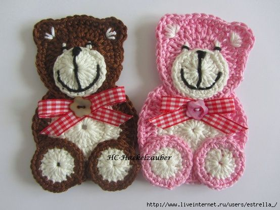lindos aplique con crochet tutoriales