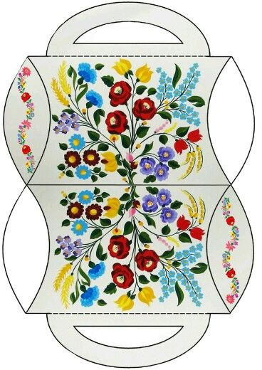 Caja almohada flores colores