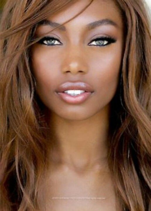 Vilayna Lasalle is an American model of an African-American, Brazilian and Creole background.  Credit: Wikipedia