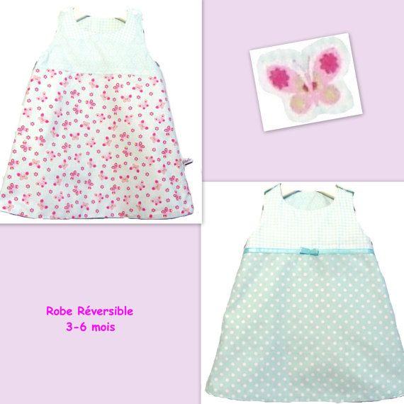 Reversible Dress Toddler Dress Trapeze Baby Dress Spring