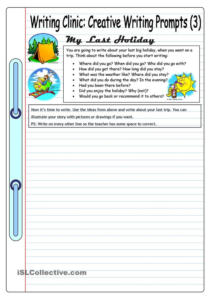 grade 3 writing prompts The collection of prompts below asks young writers to think through real or  imagined events, their emotions, and a few wacky scenarios try out.