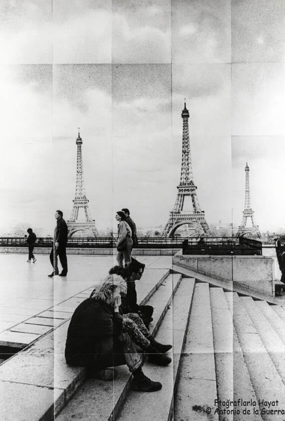 Paris/Tour Eiffel. Photomontage, 1980 © Antonio de la Guerr