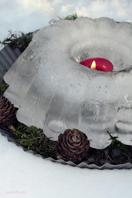 I love these ice lanterns.