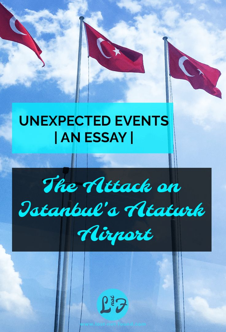Turkish Flags against a blue sky | Lost Not Found | Attack on Istanbul's Ataturk Airport
