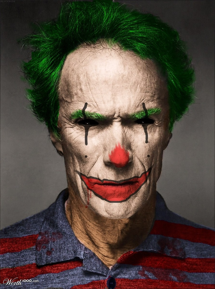 Clint Eastwood - Evil Celebrity Clown