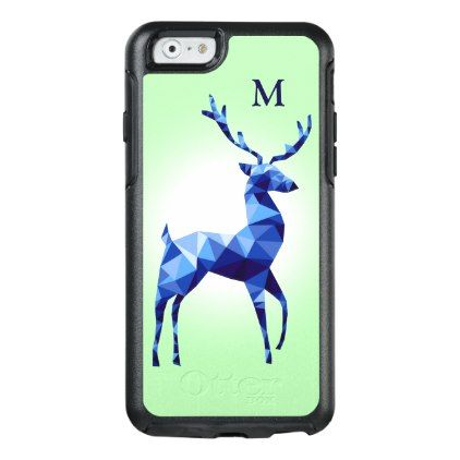 Monogram Blue Deer OtterBox iPhone 6/6s Case - country wedding gifts marriage love couples diy customize