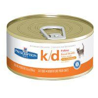 Hill's Prescription Diet k/d Feline Renal Health with Chicken Canned Food  24 count $47.99 Unit Price: $2.00