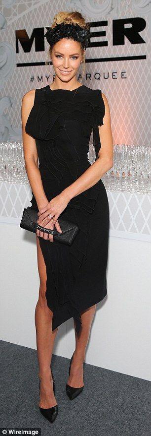 "Jennifer Hawkins wears the Maticevski SS16 ""Collective Dress"" | tonimaticevski.com"