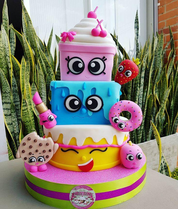 "271 Likes, 5 Comments - Pasteleria Torta CupCakes Cali (@dulcearce_arteysabor) on Instagram: ""#shopkins #cali #love #cake #shopkinscake"""