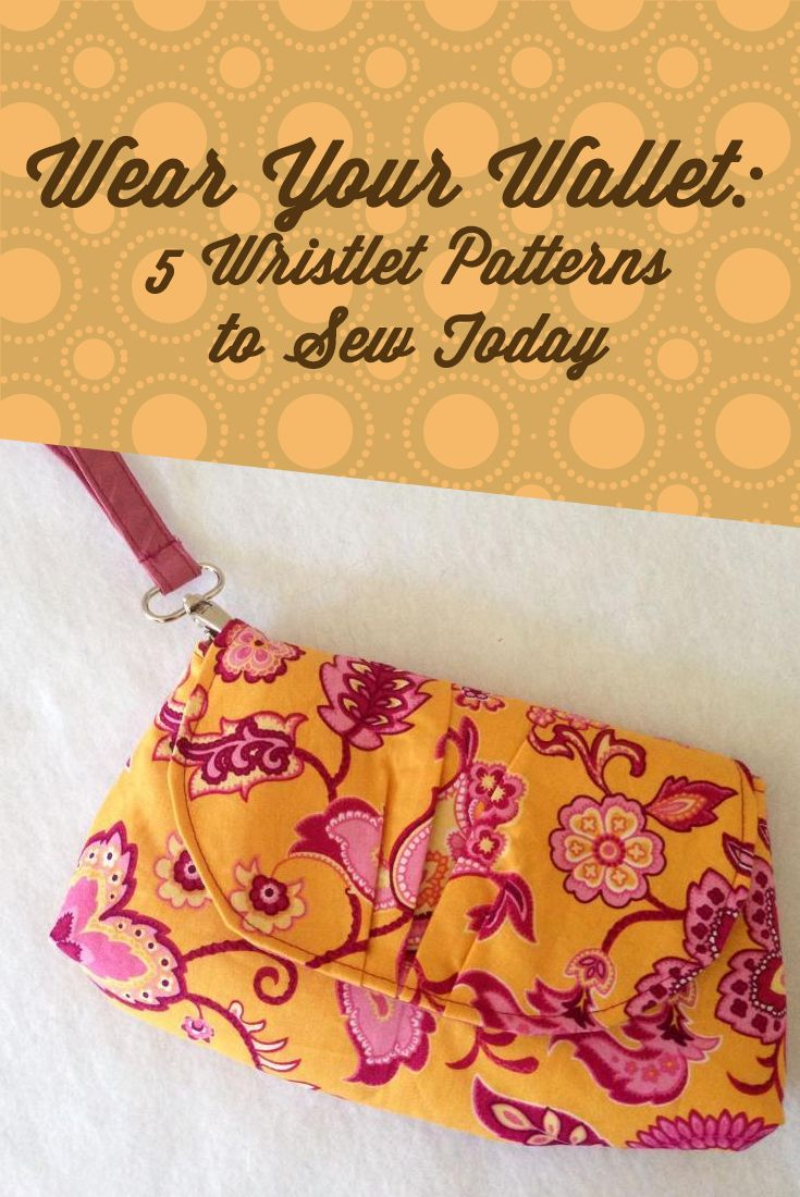 5 wristlet clutch purse sewing patterns you'll love. All available for immediate download. Something for everyone, from beginner through to advanced sewers. LOVE these wristlet sewing patterns.
