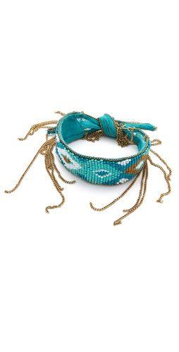 Chan Luu Beaded Chiffon Bracelet...love this