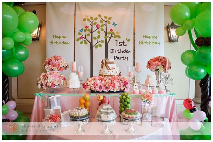 Korean 1st birthday blog dohl pinterest birthdays for Baby girl birthday party decoration ideas