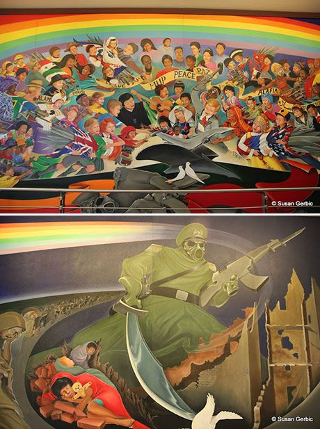 Denver Airport Murals @ The Denver International Airport. These murals display chilling images of a future genocide. Why are these disturbing paintings here for all travelers to see?